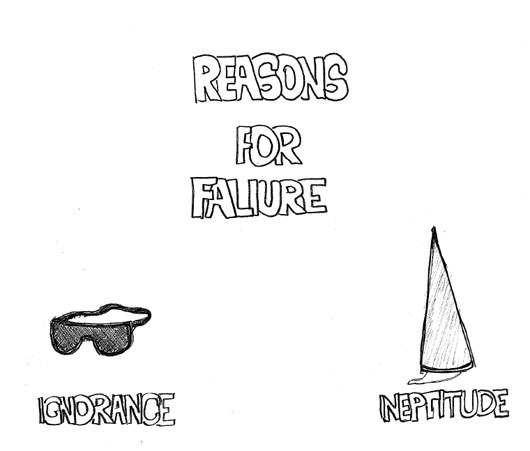 Reasons for failure